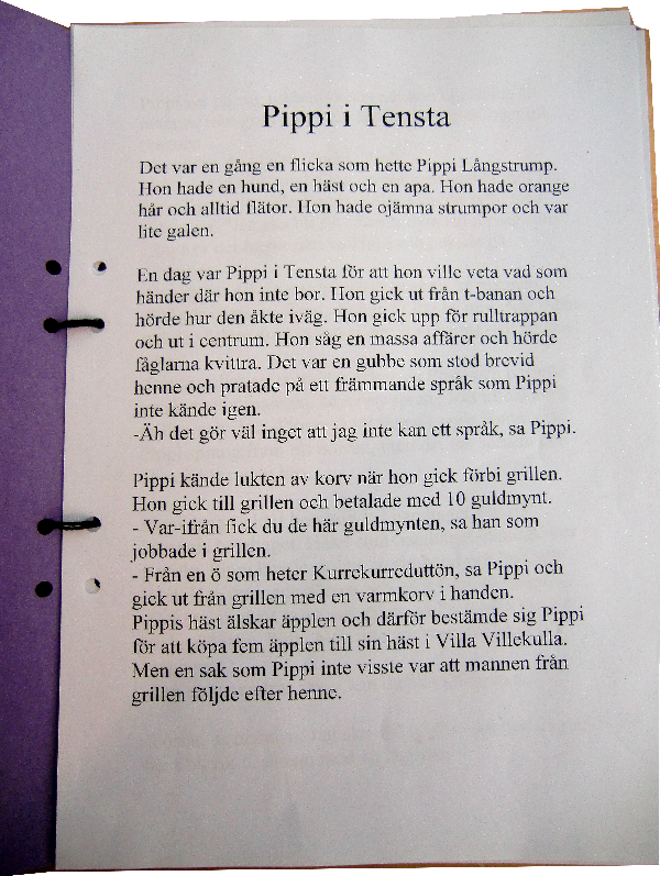 Pippi i Tensta text
